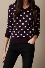 Burberry Knitted Polka Dot Sweater