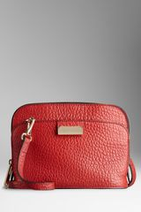 Burberry Small Heritage Grain Leather Crossbody Bag - Lyst