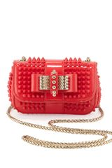 Christian Louboutin Sweety Charity Spiked Crossbody Bag Pink - Lyst