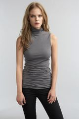 Graham & Spencer Neeve Shirred Turtleneck Tank Top - Lyst