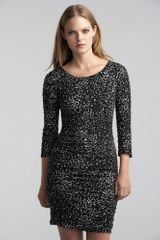 Graham & Spencer Jessica Ruched Feline Print Dress - Lyst