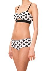 House Of Holland Polka Dot Full Bra - Lyst