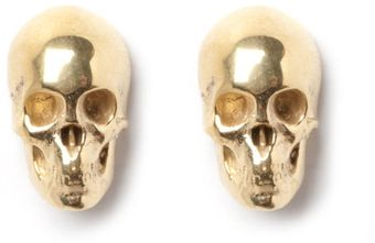 Leivankash Skull Stud Earrings Yellow - Lyst