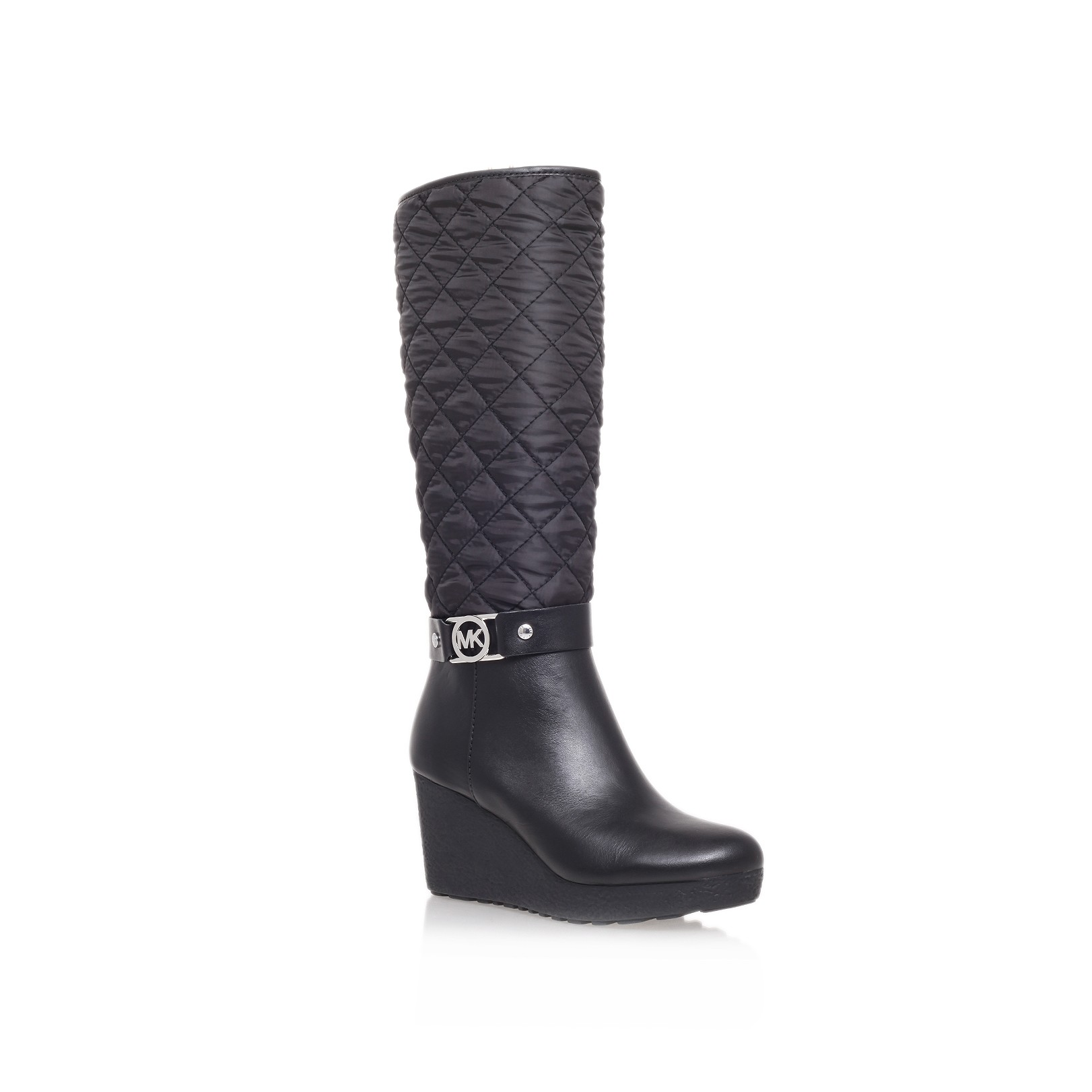 Simple Michael Michael Kors Tall Harness Rain Boots  Fulton In Black  Lyst