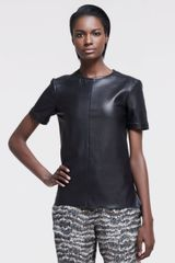 Rag & Bone Aviemore Seamed Leather Top - Lyst