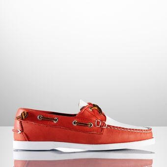 Ralph Lauren Collection Thea Calfskin Boat Shoe - Lyst