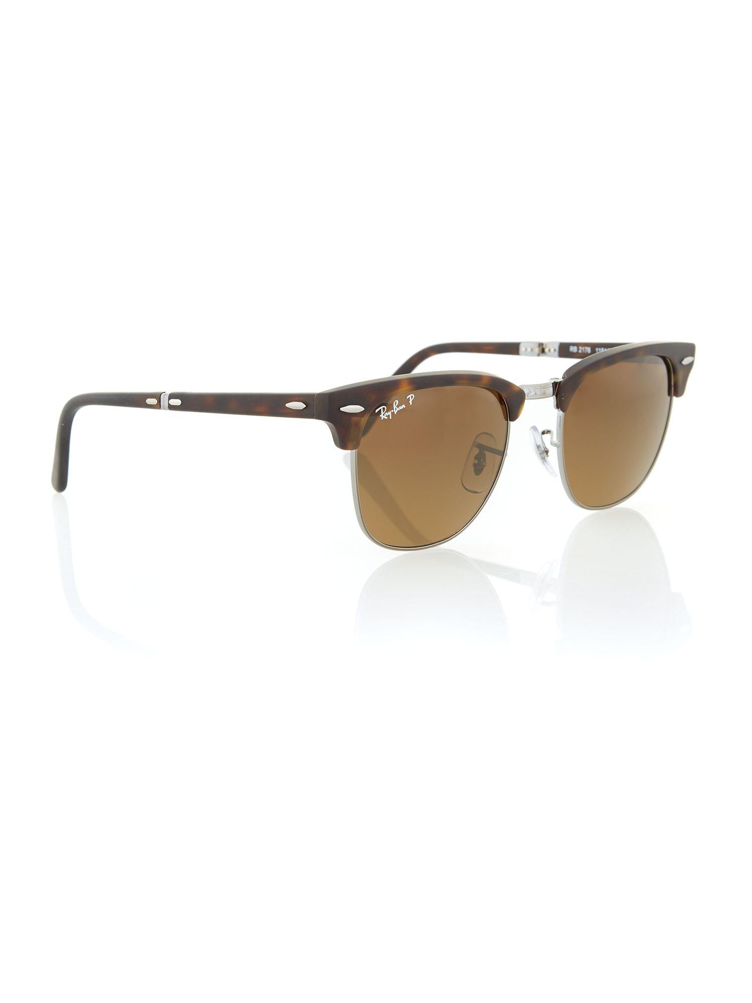 havana clubmaster  Ray-ban Unisex Matte Dark Havana Clubmaster Sunglasses in Brown ...