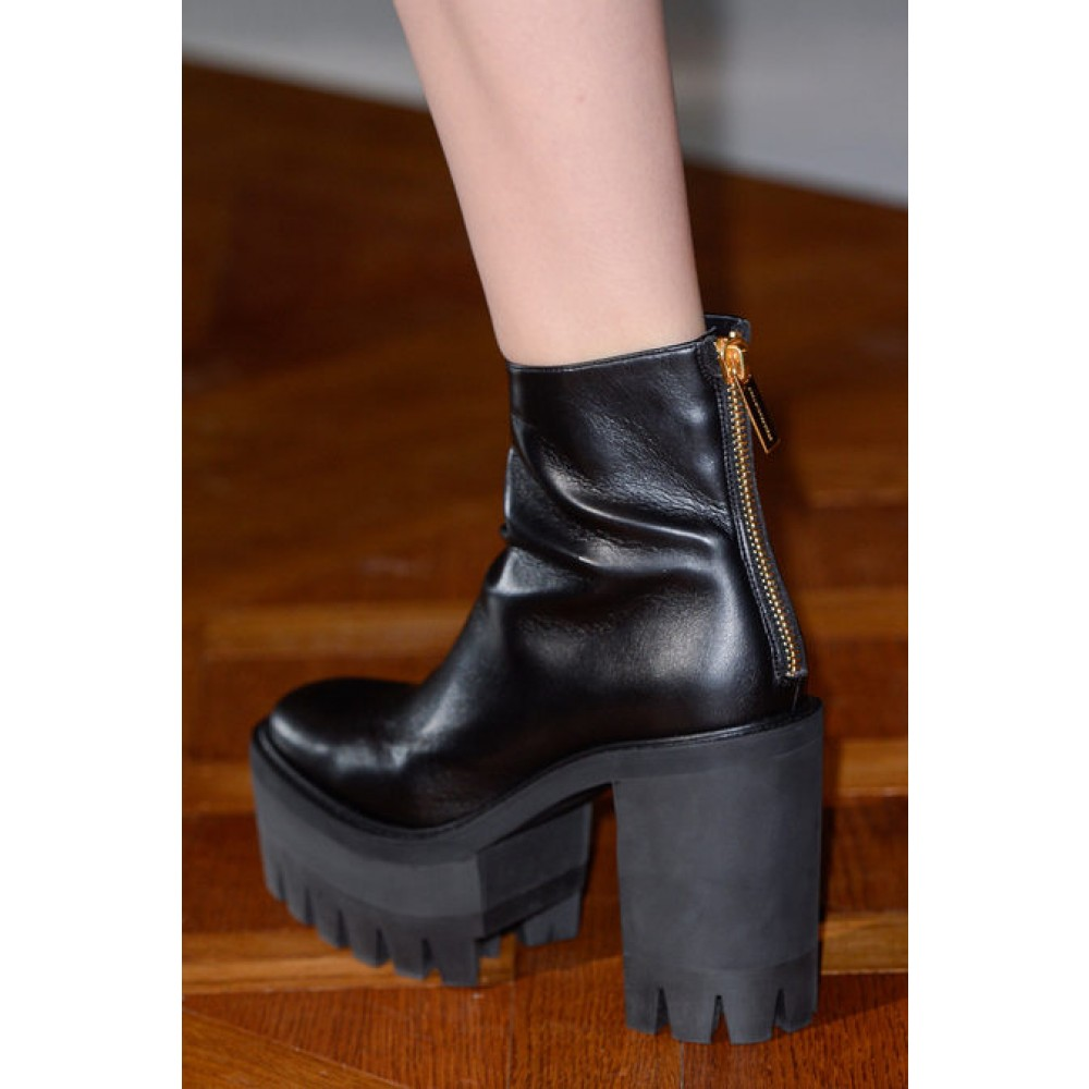 41ae6b7ed2d3 Lyst - Stella McCartney Faux Leather Platform Ankle Boots in Black