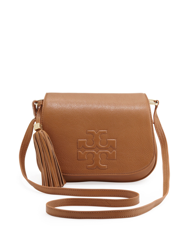 0b0824b6e630 Tory Burch Thea Crossbody Saddle Bag Royal Tan in Brown - Lyst