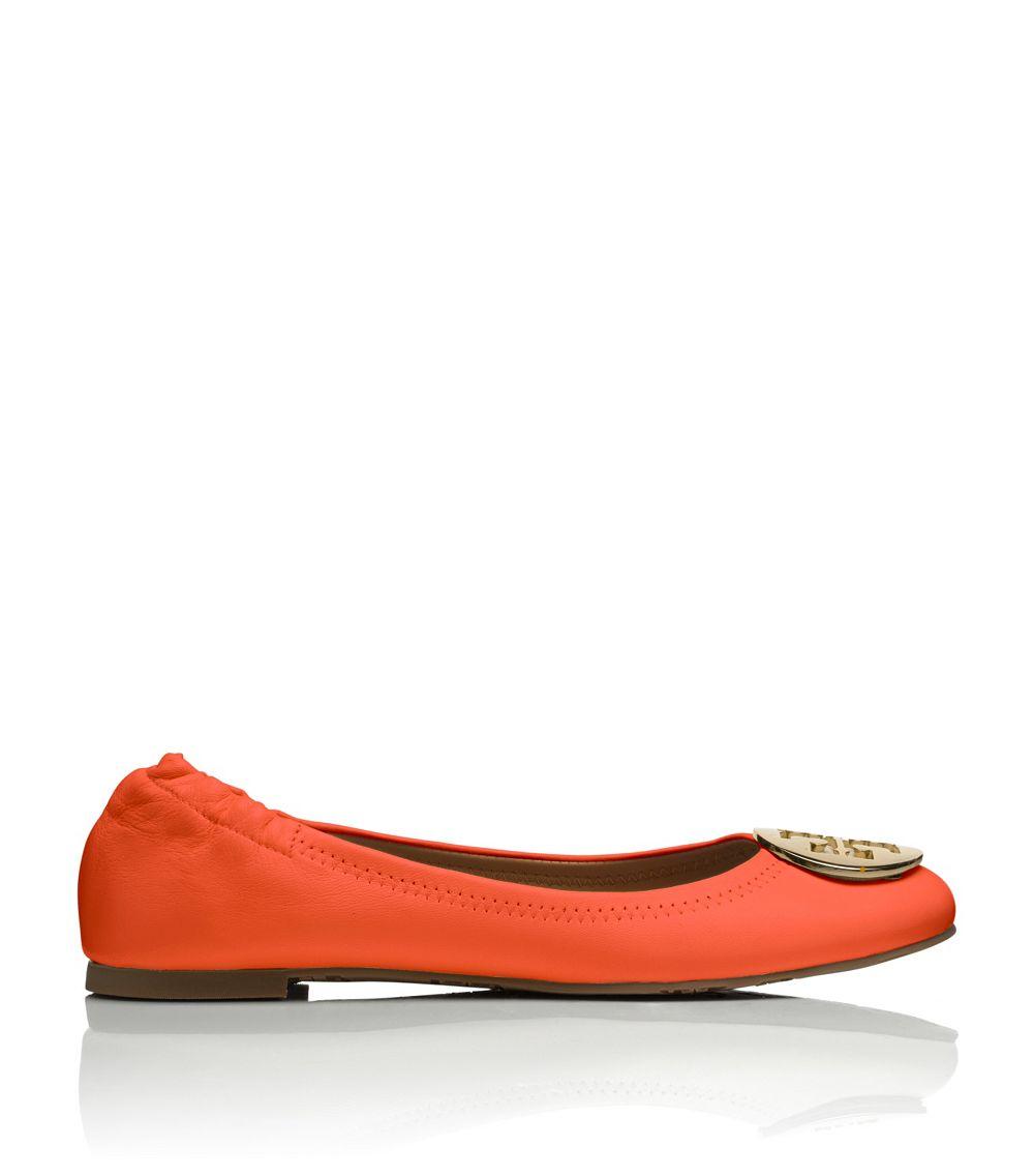 99ae4088f510 Tory Burch Reva Ballet Flat in Orange - Lyst