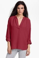 Two By Vince Camuto Split Neck Tunic Blouse - Lyst