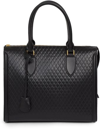 Alexander McQueen Pyramid Quilted Leather Tote - Lyst