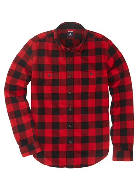 Bonobos buffalo flannel slim red in red for men lyst for Red buffalo flannel shirt