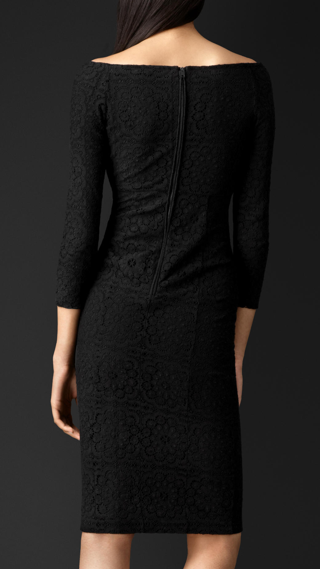 Lyst Burberry English Lace Dress In Black