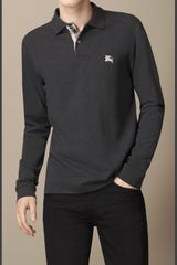 Burberry Long Sleeve Polo Shirt - Lyst