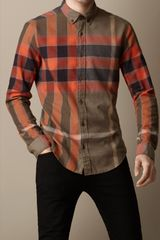 Burberry Exploded Check Flannel Shirt - Lyst
