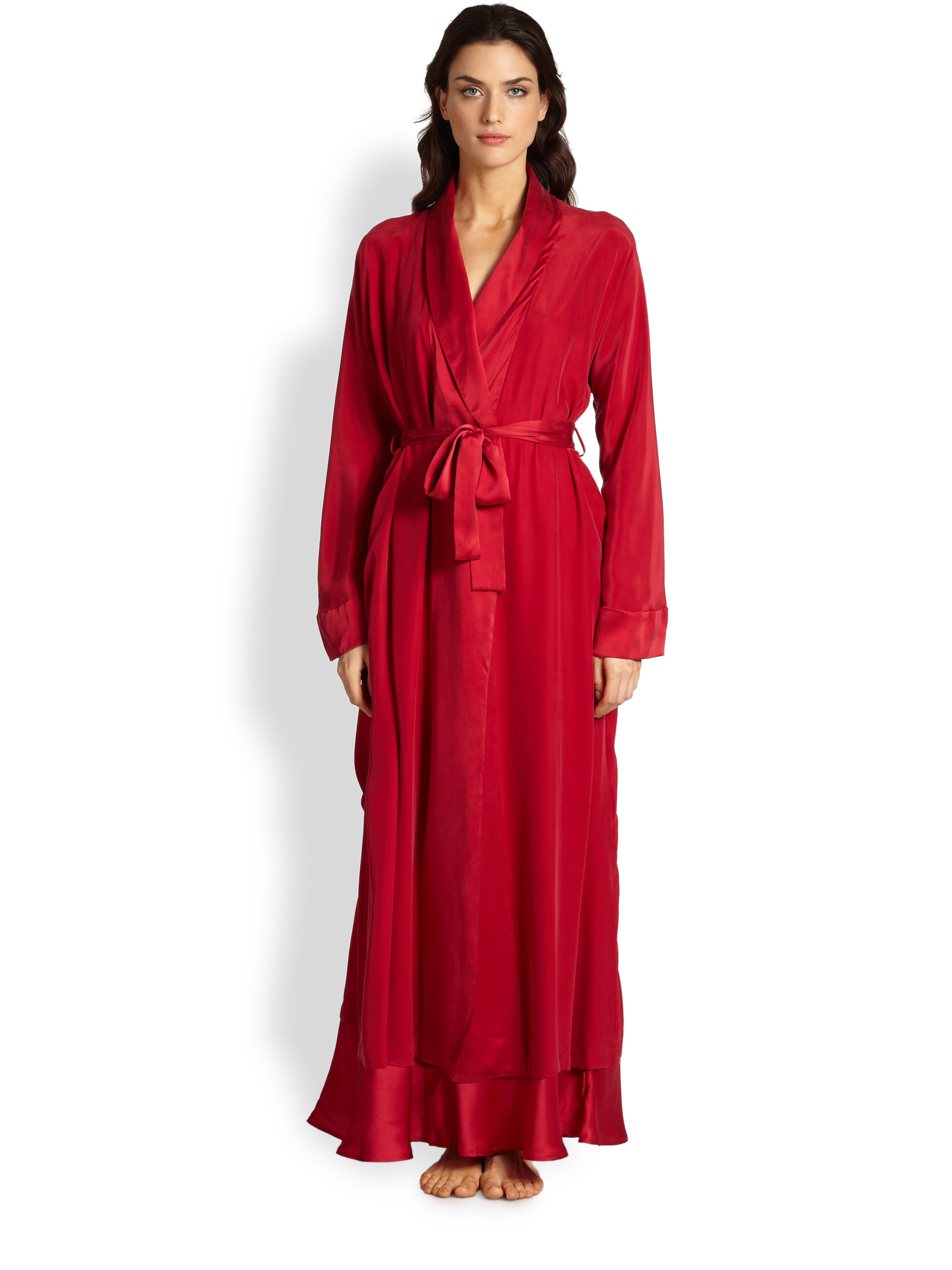 Red Black Two face Chinese Women's Robe Mujeres Pijama ... |Red Silk Robe