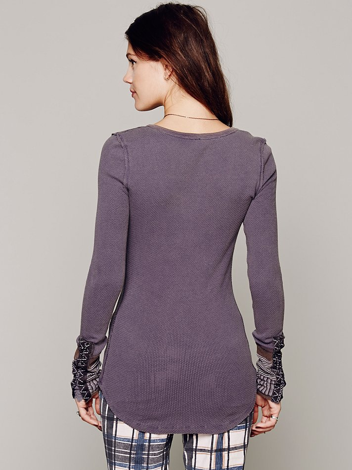 Lyst Free People We The Free Kyoto Cuff Thermal In Blue