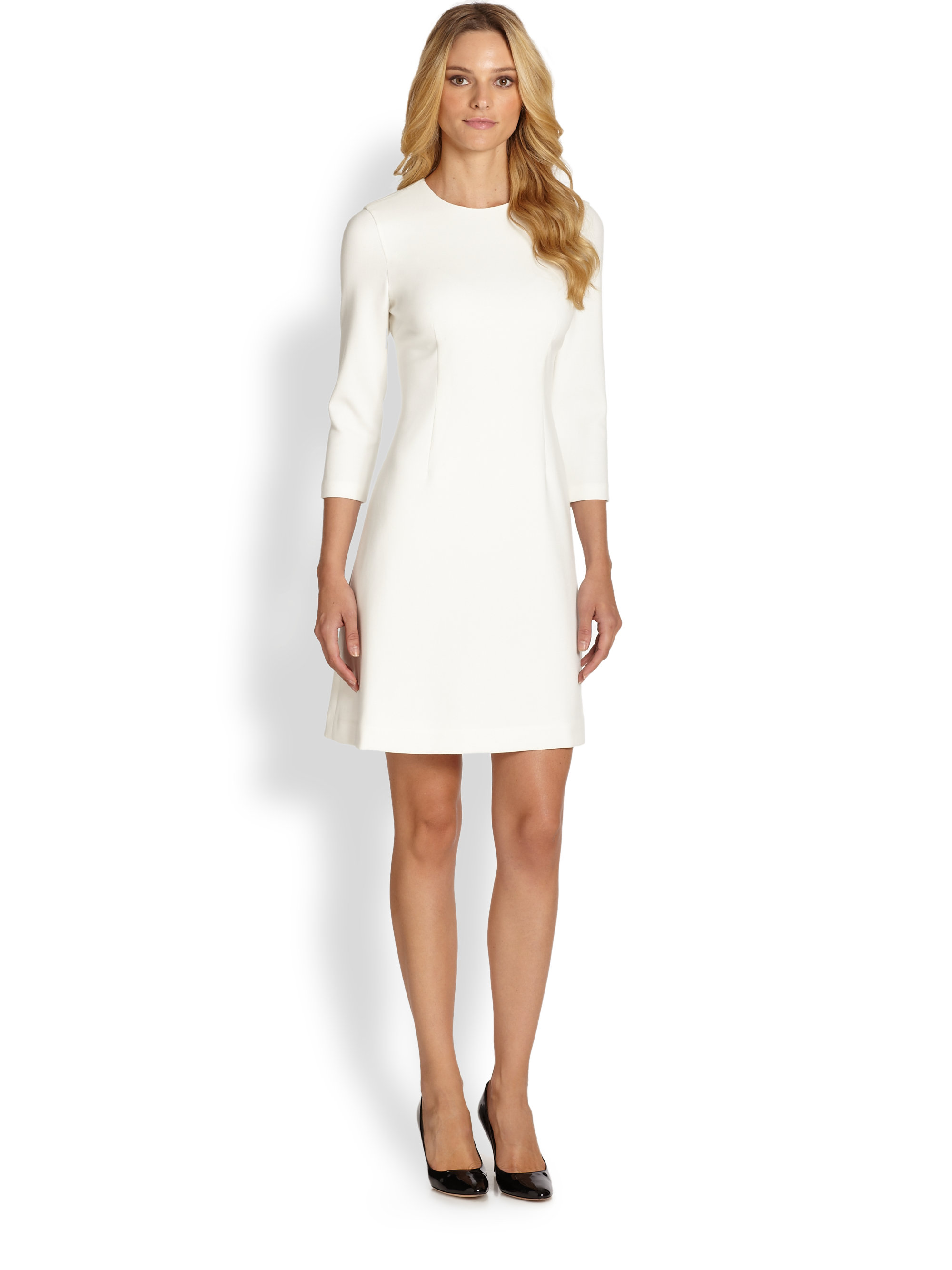 Lyst Kate Spade New York Keegan Ponte Dress In White