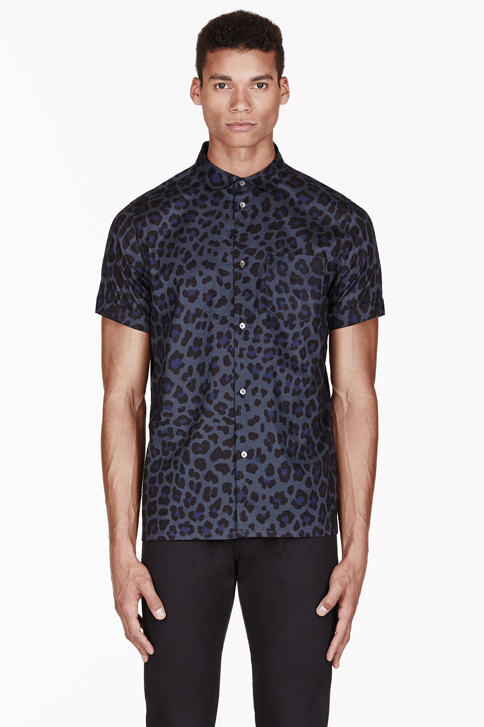 ee904cb8 Marc By Marc Jacobs Blue London Leopard Print Shirt in Blue for Men ...