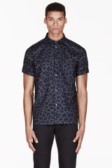 Marc By Marc Jacobs Blue London Leopard Print Shirt - Lyst
