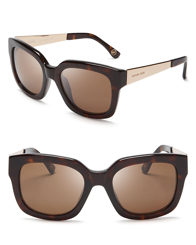 Oversized Wayfarer Sunglasses  michael kors leah oversized wayfarer sunglasses lyst
