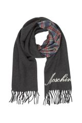 Moschino Fringed Wool and Silk Double Face Long Scarf - Lyst
