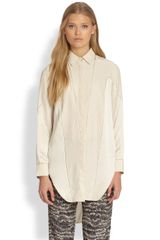 Rag & Bone Laura Silk Paneled Shirt - Lyst
