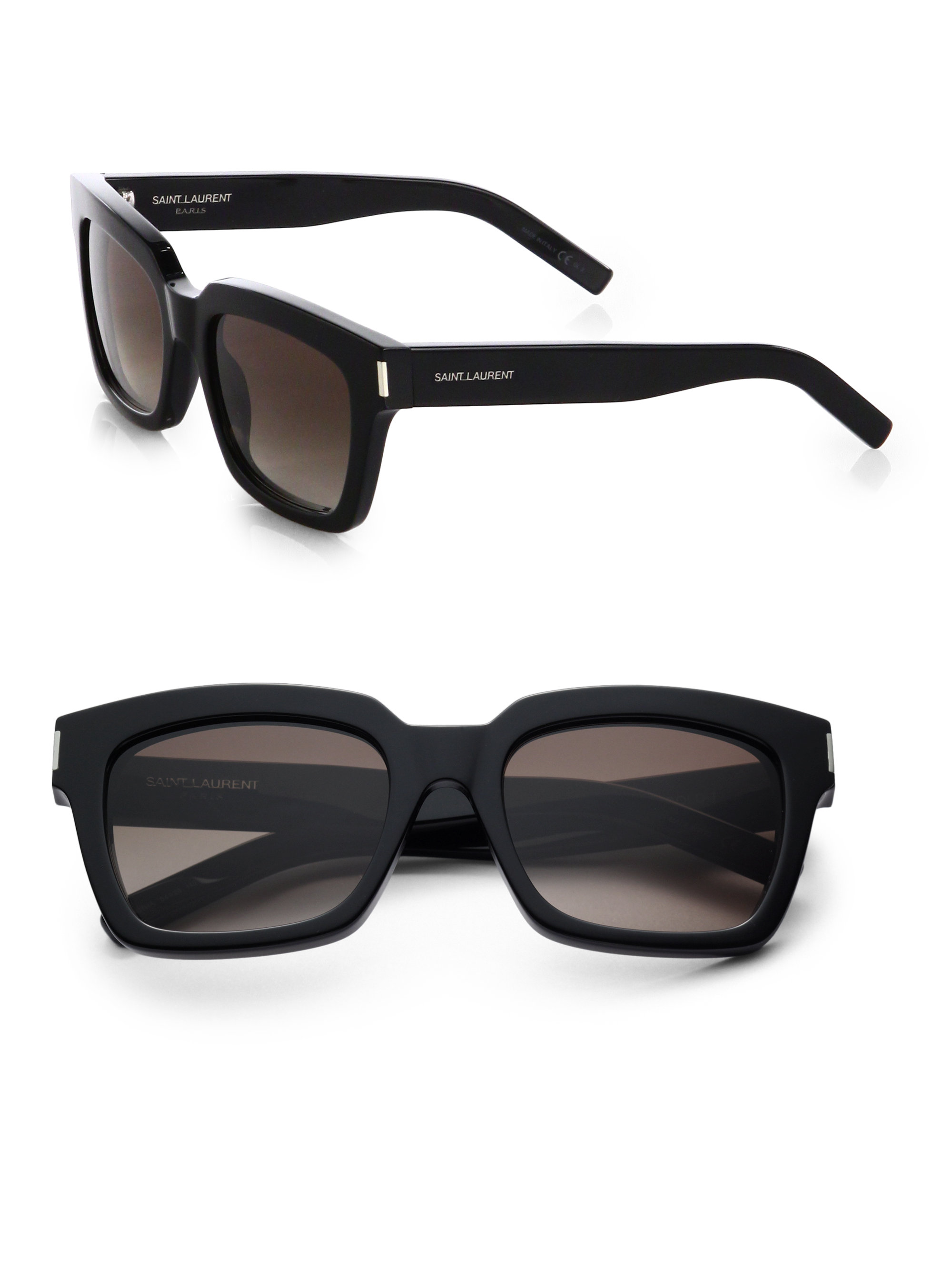 thick framed sunglasses - Black Saint Laurent Eyewear