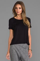 T By Alexander Wang Single Jersey Short Sleeve Tee in Black - Lyst