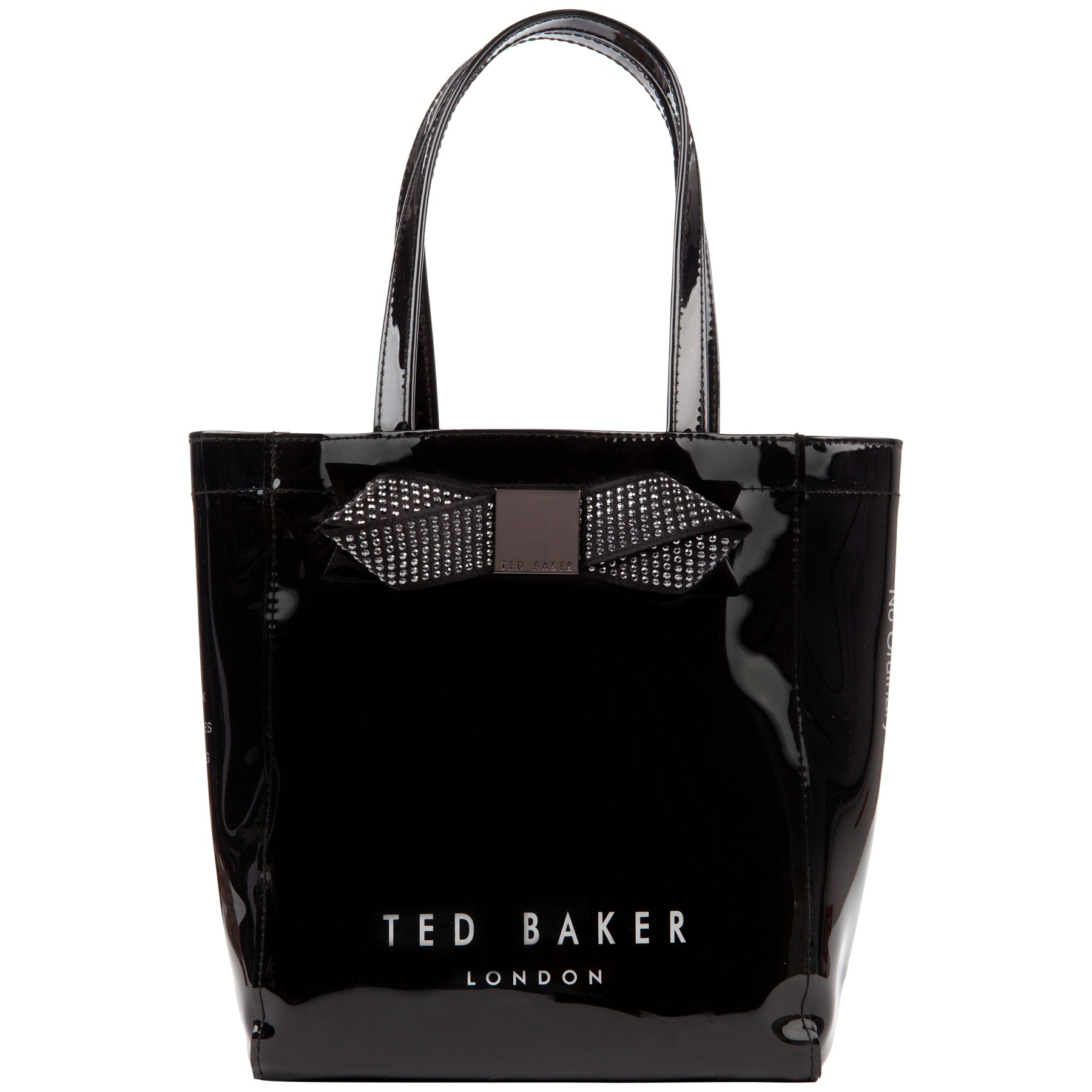 df4ad895ed1370 Ted Baker Ticon Small Bow Shopper Bag in Black