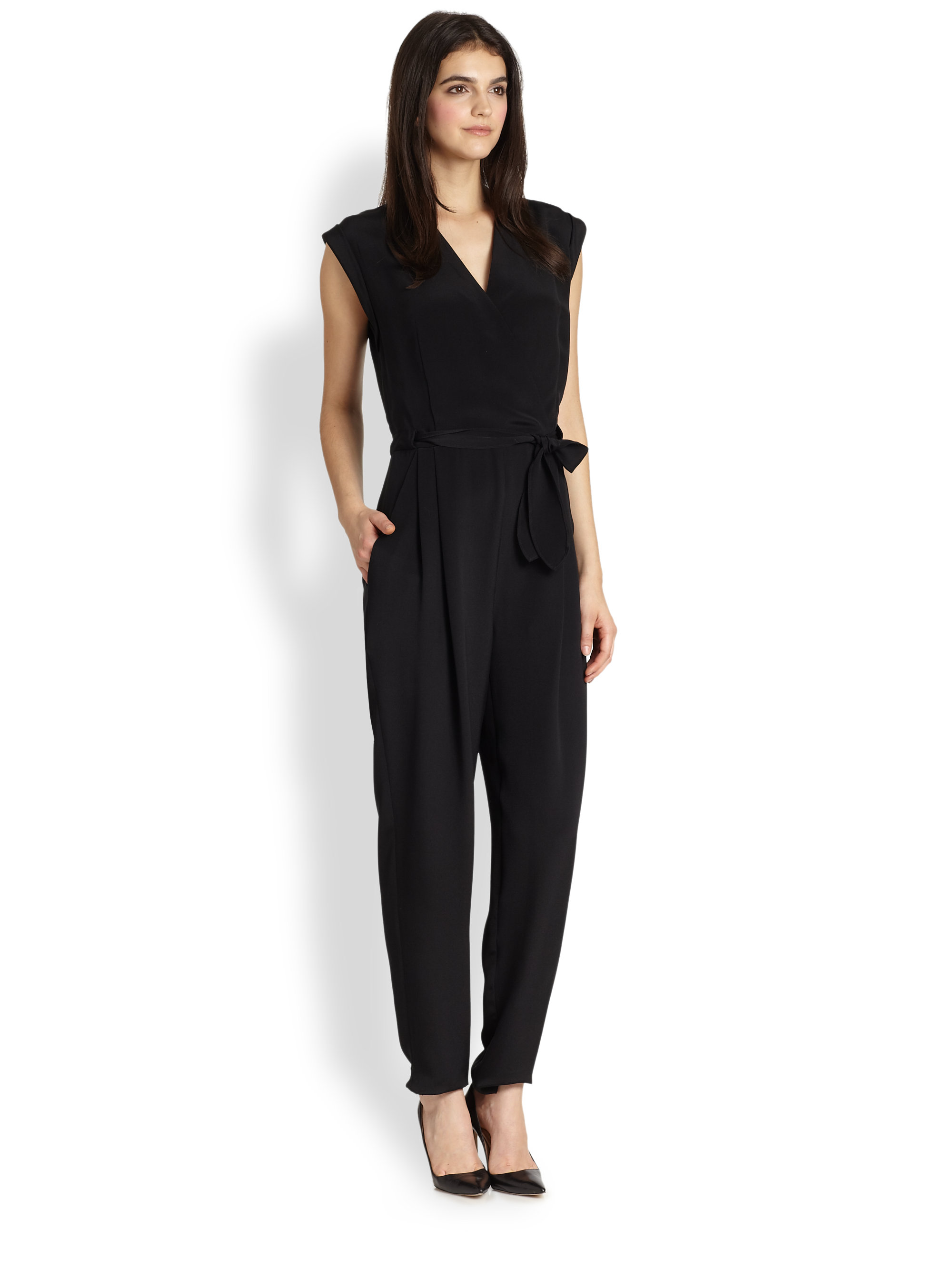 Theory sleeveless wrap jumpsuit Hot Sale Cheap Price Good Selling Cheap Price Clearance With Credit Card Buy Cheap Lowest Price Outlet For Sale vTvBani
