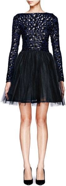 Alice + Olivia Bergen Embellished Ballerina Dress - Lyst