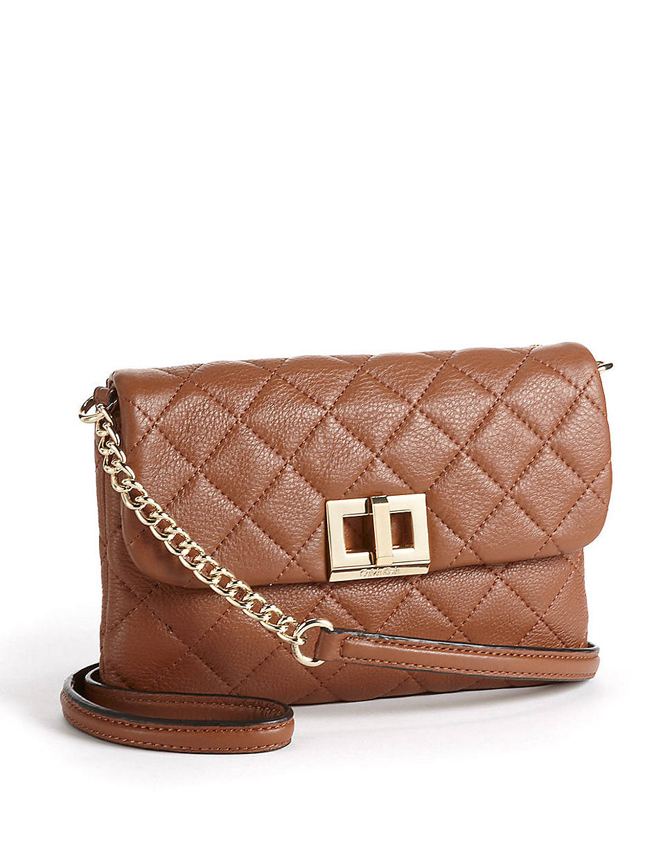 Calvin klein Quilted Leather Crossbody Bag in Natural | Lyst : calvin klein quilted leather crossbody bag - Adamdwight.com