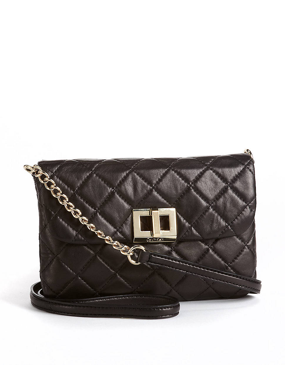 Calvin Klein Quilted Leather Crossbody Bag In Black Lyst