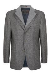 Corneliani Flecked Jacket with Cashmere Insert - Lyst