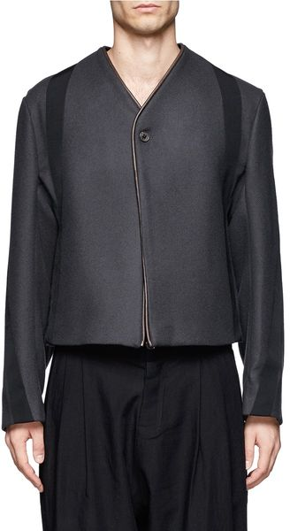 Damir Doma Wool Blend Cropped Jacket - Lyst
