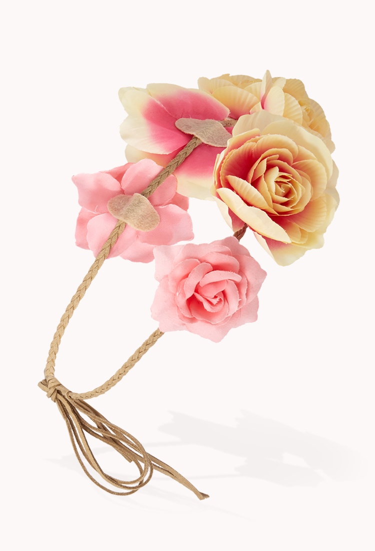 Lyst forever 21 free spirit flower crown in pink gallery izmirmasajfo
