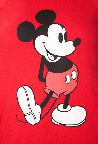 21 Mickey Mouse Nail Art Designs Ideas: Forever 21 Mickey Mouse Raglan Sweatshirt In Red (Red