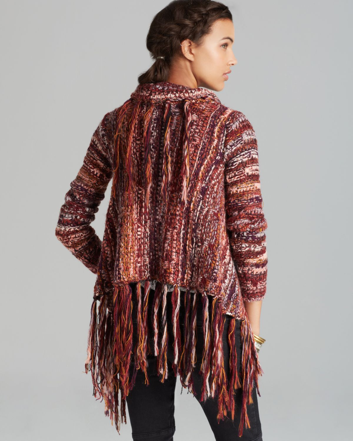 Free people Cardigan Fringe Printed | Lyst