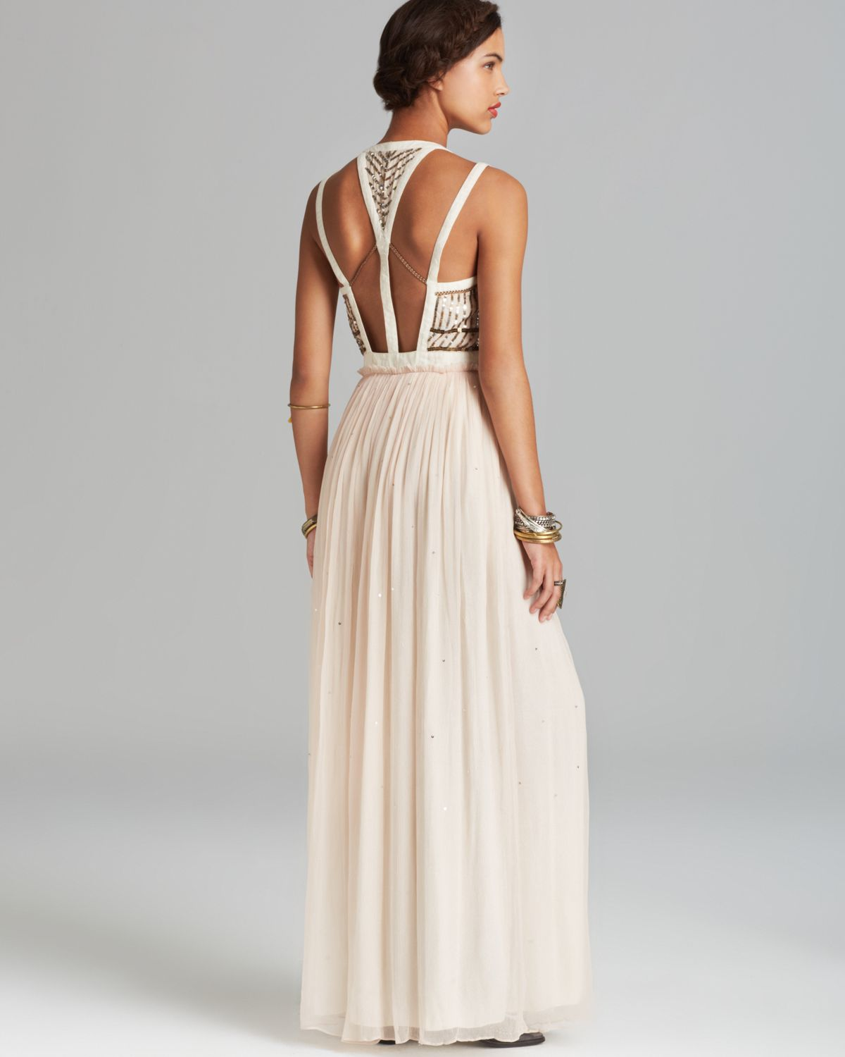 Lyst Free People Maxi Dress Golden Chalice In Metallic