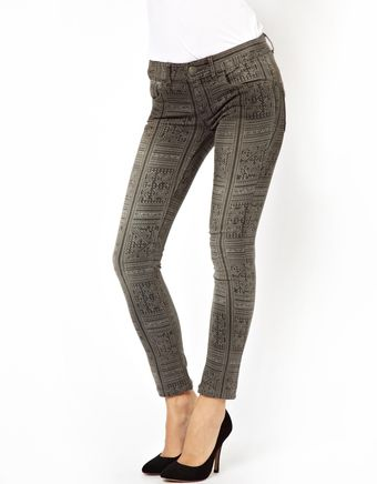 Free People Ankle Skinny Jeans in Batik Print - Lyst