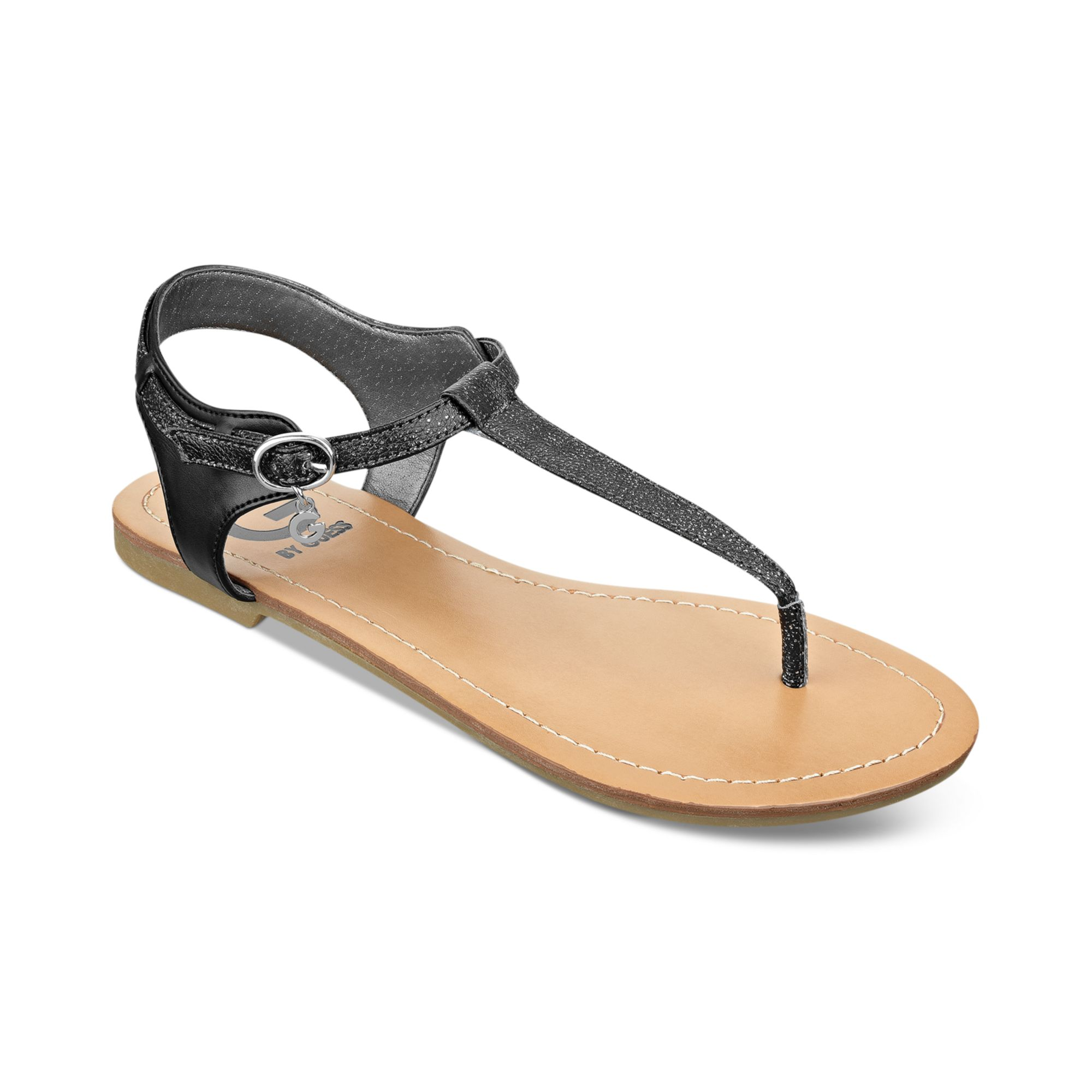 d7dc955c86b Lyst - G by Guess Womens Luzter Tstrap Flat Thong Sandals in Black
