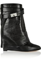 Givenchy Folded Ankle Boots in Black Eel - Lyst