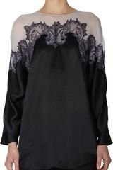 Givenchy Embroidered Lace Long Sleeve Top - Lyst