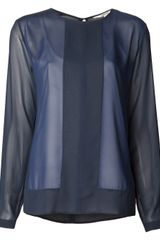 J Brand Sheer Blouse - Lyst