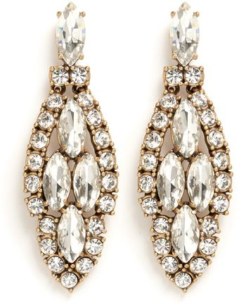 J.Crew Crystal Icicle Earrings - Lyst