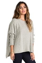 Marc By Marc Jacobs Frieda Sweater in Gray - Lyst