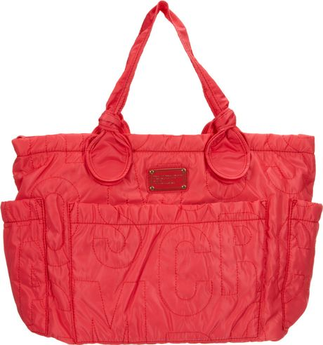 marc by marc jacobs pretty nylon elizababy diaper bag in red lyst. Black Bedroom Furniture Sets. Home Design Ideas