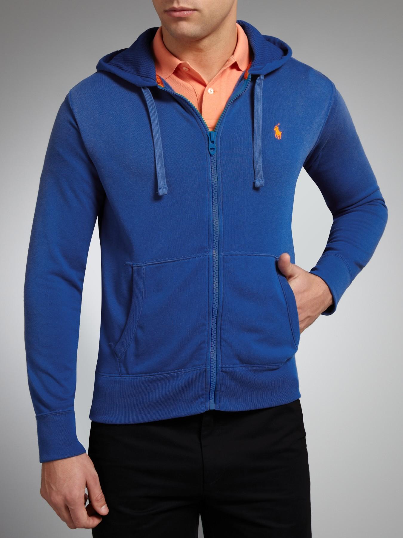 6fb328849 ... ireland polo ralph lauren full zip fleece hoodie in blue for men lyst  f9179 c691e